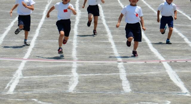 走り競争の写真