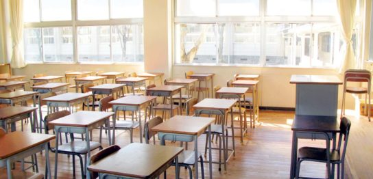 小学校の教室の写真